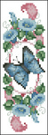 Превью Butterfly and Bluebells Bookmark E00431 (224x616, 154Kb)