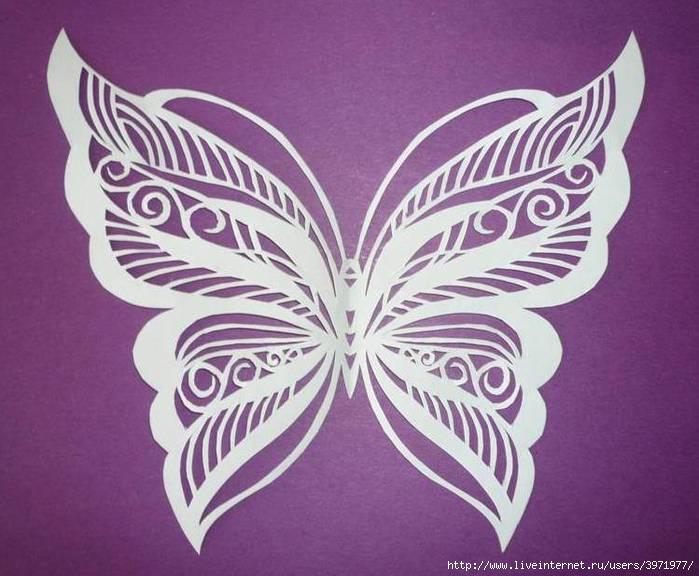 Резные бабочки из бумаги как сделать