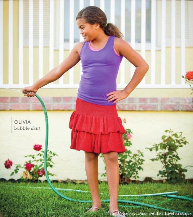 Вязание на спицах юбки для девочки 32