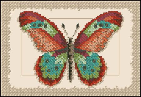 Схема вышивки в форматe.  Тип ниток: DMC, JP Coats Количество цветов: 26 Тип канвы: Aida Цвет канвы...