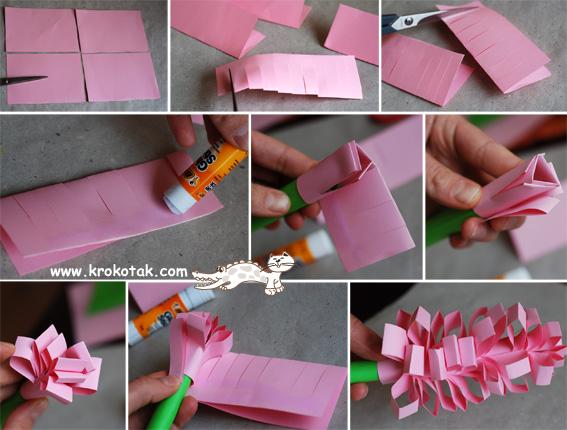 Подарок маме своими руками из бумаги видео