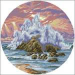 Символ 2014 года. схема.  Метки.  Описание: Схема для вышивки крестом - Dimensions 00335 Wild Surf в формате xsd...
