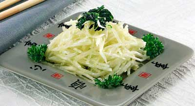 Белый редис в чесночном соусе