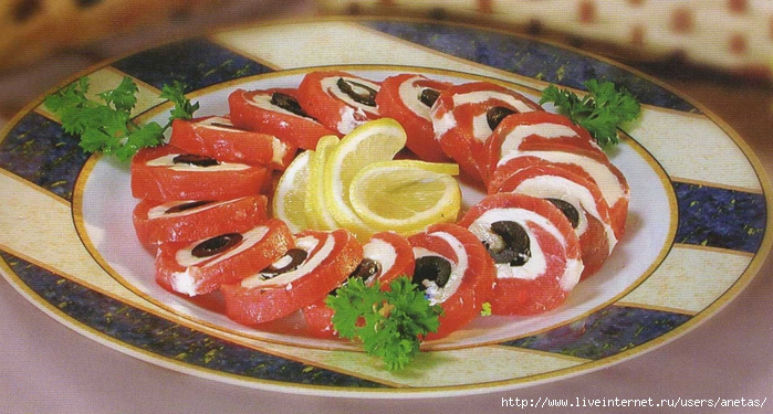 закуски с красной рыбой рецепт с фото