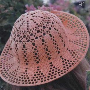 Вязание крючком летние шляпки для женщин схемы