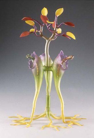 Работы из цветного стекла мастера стеклодува Roberta Michelsena.