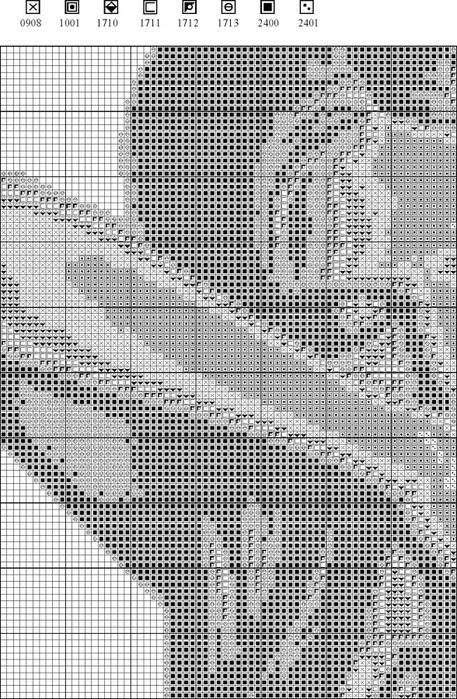 Схема и нитки к вышивке крестом 129