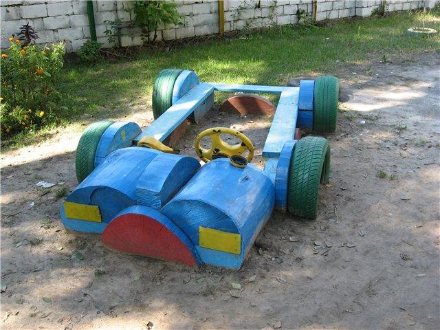 Детская площадка в саду своими руками фото