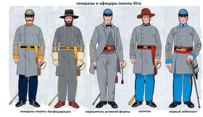 06 офицеры пехоты юга (700x403, 193Kb)