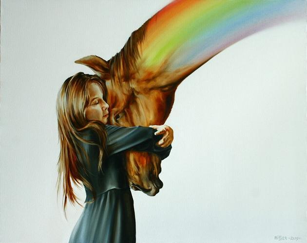 девочка и лошадь (630x498, 29Kb)