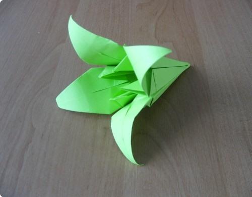 Схема сборки лилии для шара