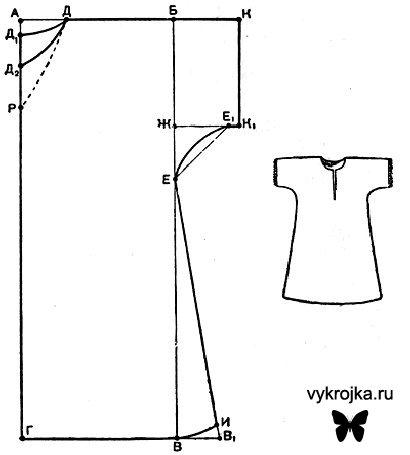 Чертеж  рубашки