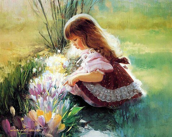 А акварель творила чудеса  и на холсте вновь появлялись детки...