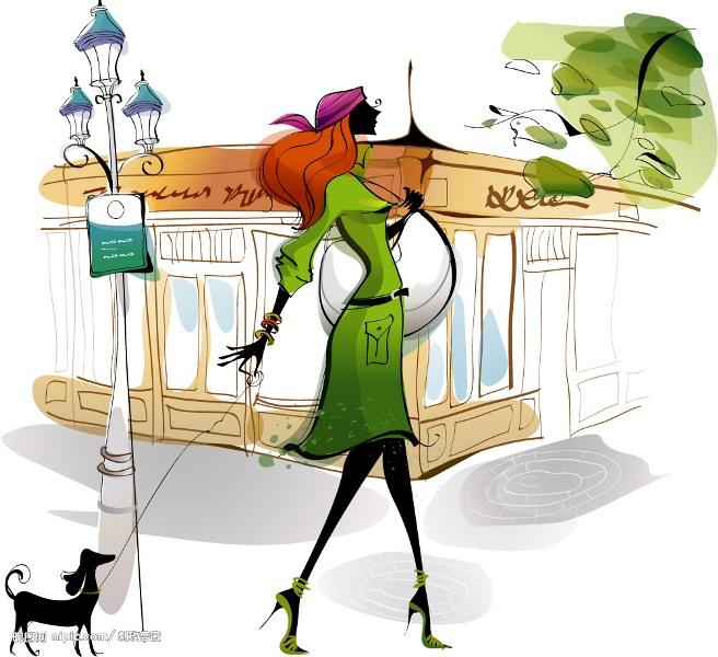 """Модные девушки в векторе """" ALLDAY - народный сайт о дизайне"""