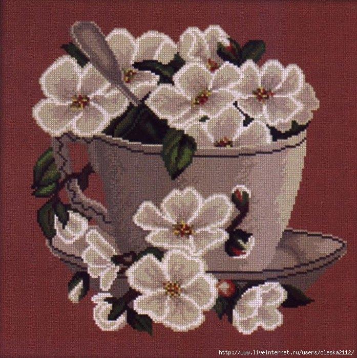 цветочный кофе2 (697x700, 308Kb)
