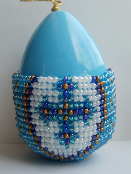 Яйцо Пасхальное оплетенное бисером