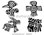 Превью stock-vector-fantastic-animals-and-birds-of-aztecs-28953574 (450x361, 48Kb)