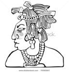 Превью stock-vector-mayan-icon-tribal-chief-79365667 (450x470, 57Kb)