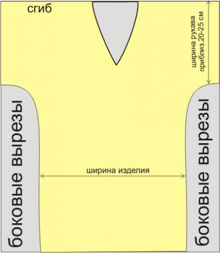 выкройка туники (435x500, 19Kb)