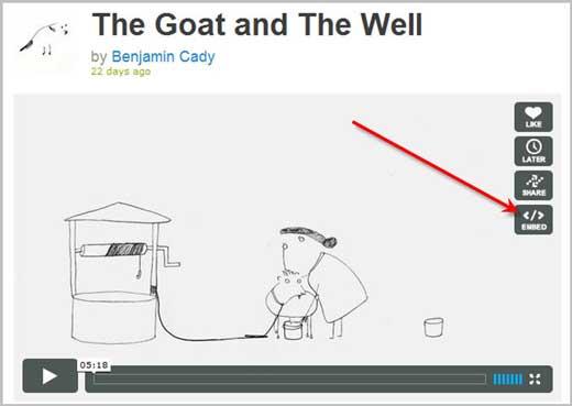 Как вставить, встроить в пост или на сайт видео Vimeo.com/2447247_vimeocode4 (520x369, 14Kb)