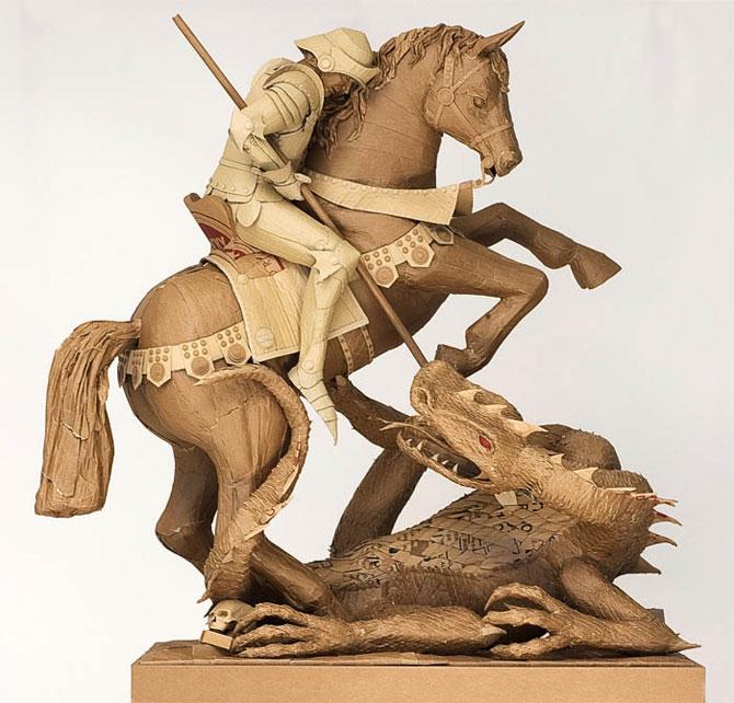 скульптуры из картона 14 (670x642, 94Kb)
