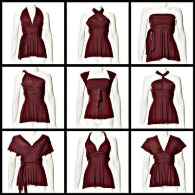 Платье трансформер как одеть