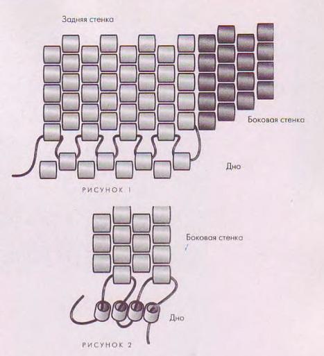 Сумочки из бисера трех видов.