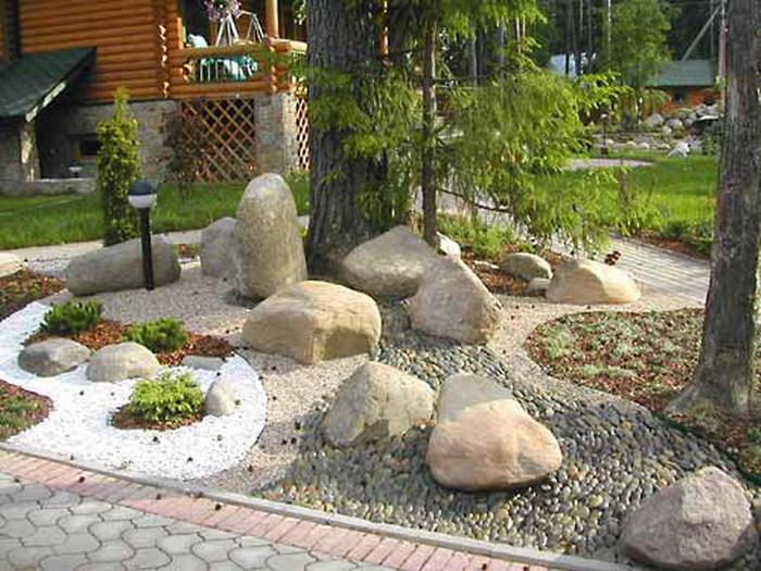 Камни в саду своими руками фото