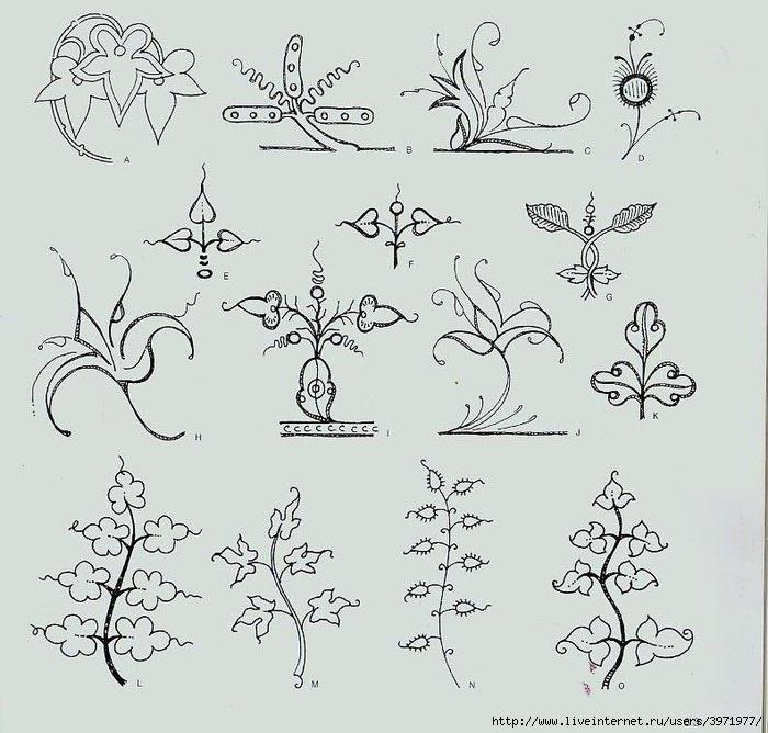 4000 motifs de fleurs et de plantes (51) (700x668, 211Kb)