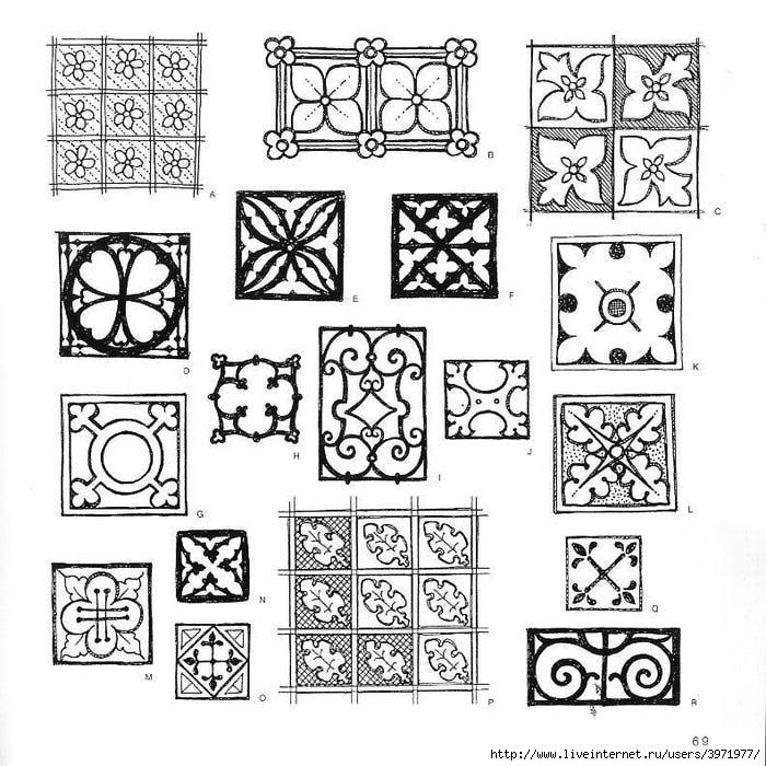 4000 motifs de fleurs et de plantes (57) (700x700, 293Kb)