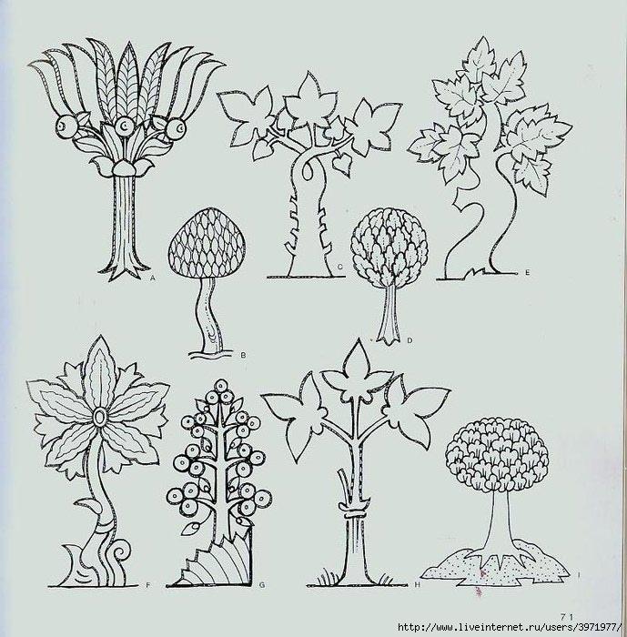4000 motifs de fleurs et de plantes (59) (689x700, 253Kb)