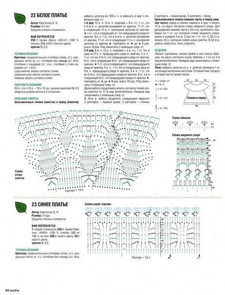 схема вязания детского платья веселые петельки (461x604, 82Kb)