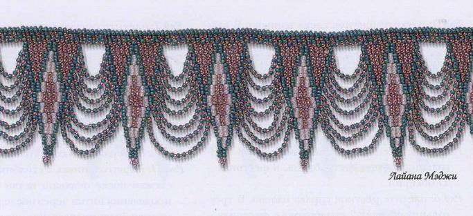 украшения из бисера. ожерелья из бисера.