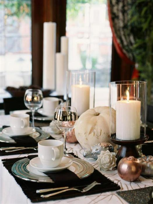 Thanksgiving dining room table decorations