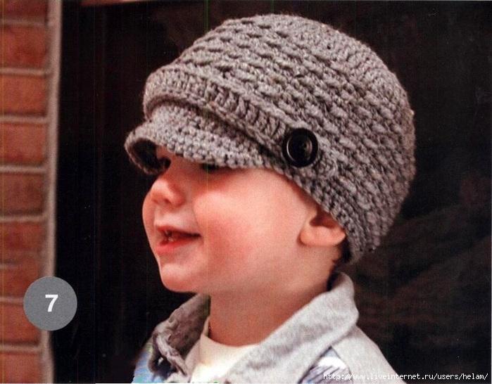 """свой цитатник или сообщество!  Детская шапочка с козырьком и кепка.  Описание из  """"Журнала Мод """".  Прочитать целикомВ."""