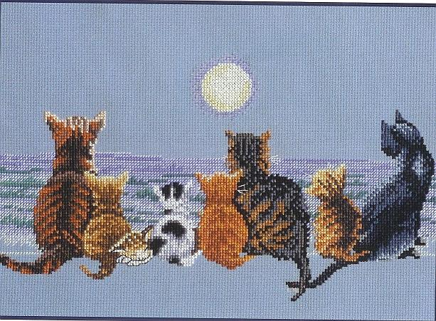 19.11.2011. Категория.  Вышивка крестиком - Кошачий хор.  Животные.  Просмотров: 140 Дата.