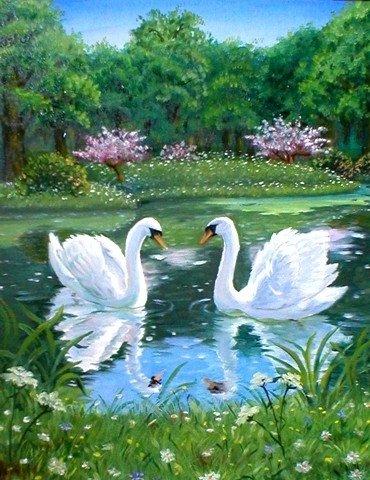 Какое счастье в жизни просто жить.  Любить всегда - всегда любимым быть И любоваться - парой лебедей.