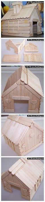 Шкатулка домик своими руками
