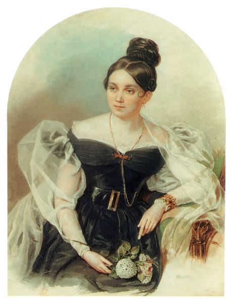 Елена Григорьевна Черткова(1800-1832), дочь барона Г.А.Строганова (460x600, 86Kb)