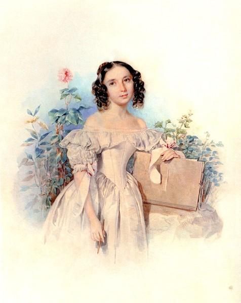 Княжна Елена Васильевна Мещерская (1820- после 1843), с 1842 года жена принца Каликста Бирона (476x600, 60Kb)