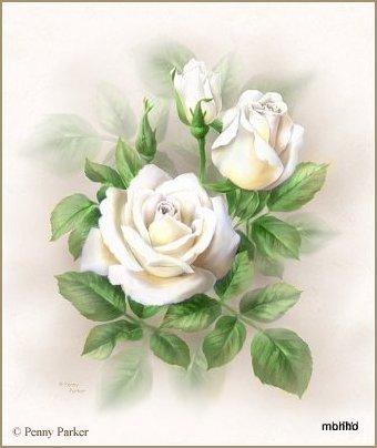 Ramo de rosas brancas (340x404, 31Kb)