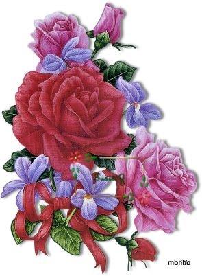 Rosas e violetas (295x402, 32Kb)