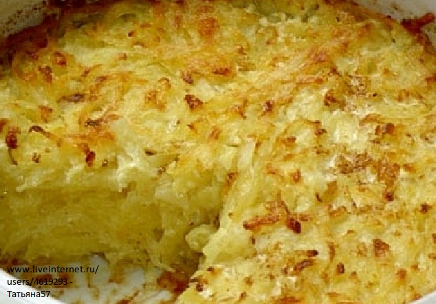 Запеканка из сырого картофеля с мясом и сыром