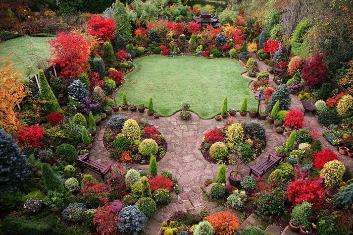 английский сад четыре сезона фото (700x466, 245Kb)