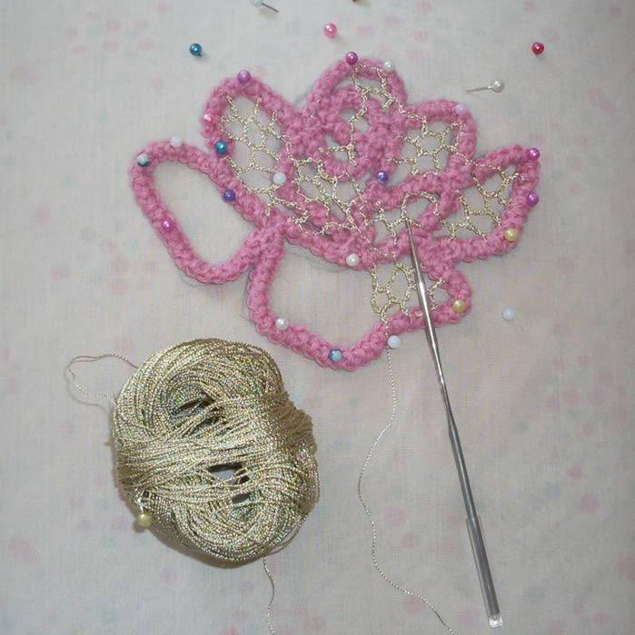 Вязание шнура для в ирландском кружеве