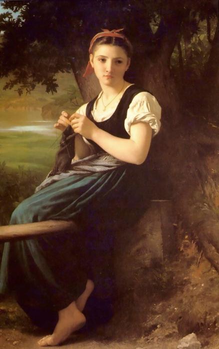 The кnitting girl. 1869 (438x700, 211Kb)