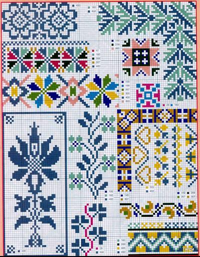 Вышивка орнамент схемы 73