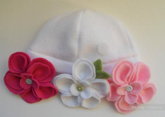 Цветы из фетра на шапку своими руками 100