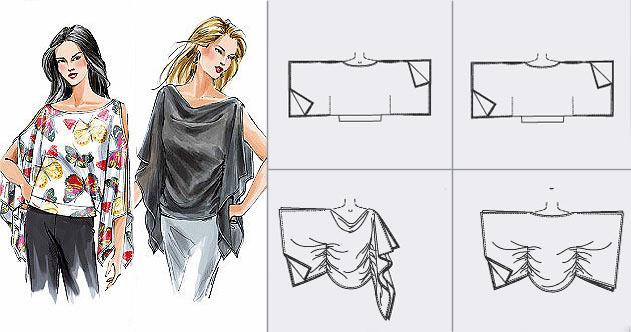Нарядная блузка с драпировкой