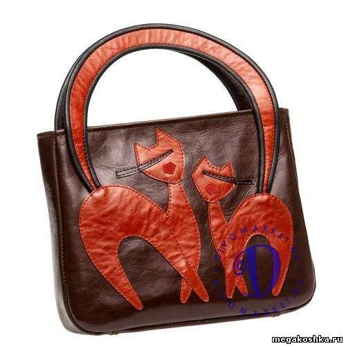 вязаная сумка с кошками - Самое интересное в блогах.